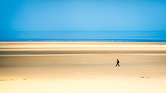 Walking the beach. (kitchou1 Thanx 4 UR Visits Coms+Faves.) Tags: world sky people seascape france nature season landscape spring europe exterior printemps saison