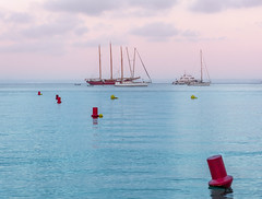 No more Sailing for today (Flatroad) Tags: sunset beach boats sailing mallorca spanien familj sommar