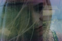 Alissa (Juliet Alpha November) Tags: portrait film beautiful analog 35mm hair exposure kodak jan portrt double multiple plus 100 analogue expired multi vr haar doppelbelichtung mehrfachbelichtung meifert