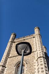 Illuminator (KevPBur) Tags: square reading streetlamp bluesky churchtower negativespace berkshire sigma30mmf14exdchsm canon650d canonrebelt4i canonkissx6i canon650dcanonkissx6icanonrebelt4i