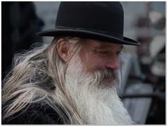 Bernard (Hugh Stanton) Tags: hat hair beard grey long bowler