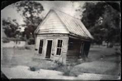 Leaning House Tintype (Neal3K) Tags: bw house abandoned blackwhite tintype lillyga hipstamatic