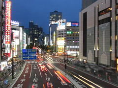 June 27, 2016 (Legodude:)277) Tags: cars tokyo japan longexposure lighttrails downtown city street road shinjuku