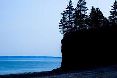 i've got the bay of fundy blues (Port View) Tags: trees cliff canada water silhouette bay coast spring novascotia tide low coastal shore coastline bayoffundy fundy tidal capesplit 2016 fundyshore cans2s chipmanbrook fujixe2