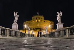 Castello Sant'Angelo (Kybenfocando) Tags: roma rome italia italy travel traveler viajar viaggiare viaggio castello santangelo night noche notte landscape