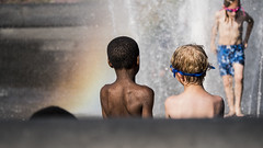 rainbow12 (jackblanko) Tags: heaven rainbow children water waterfall fountain friend friends buddy people snap newyork park sunshine