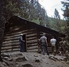 """""""Harry Cyphers"""" at cabin (amarkconard) Tags: 1976 amc digmypics newmexico philmont scanned slides mine cyphers"""