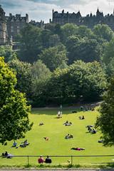 Summer In The City - Edinburgh (Ross_Elliott) Tags: edinburgh summer sun grass tree city sky blue warm hot fringe festival 2016 sony a7s loxia 50mm f2