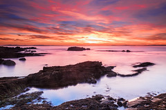 Colours of Hopeman (2) (Stoates-Findhorn) Tags: 2016 clouds firth hopeman rocks scotland sunset moray unitedkingdom