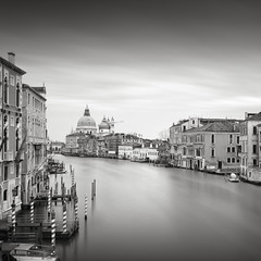Venice (GlennDriver) Tags: black white bw venice europe canal long exposure city water