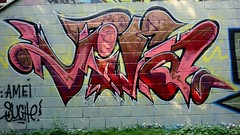 Oldenburg - Youth club Ofenerdiek ( street: Lagerstrae ) / 39th picture / Graffiti, street art (tusuwe.groeber) Tags: projekt project lovelycity graffiti germany lowersaxony oldenburg streetart niedersachsen farbig farben favorit colourful colour sony sonyphotographing nex7 bunt gebude building youthclub youthcentre freizeitsttte jugendfreizeitsttte ofenerdiek lagerstrase