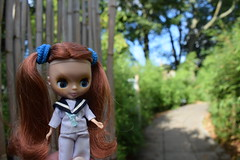 Poppy Violet found a bamboo trail! 235/365 (Bebopgirl1969) Tags: petiteblythe sailingsailing bamboo edinburghzoo