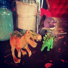 September day 16: Safe (global.local) Tags: instagramapp square squareformat iphoneography uploaded:by=instagram xproii protected dinosaurs trex safe roar mascot interesting grr stegosaurus colour gotcha fmssafe fmsphotoaday cafe innerwest sydney velvetgarage