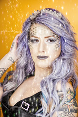 _MG_3747 (Shawn Wagner Photography) Tags: tattoo composite canon studio purple princess smoke magic makeup queen fairy editing mermaid tale whimsical ringlight 8512