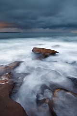 Enter the Darkness (Xenedis) Tags: ocean morning seascape water rock clouds dawn waves australia nsw newsouthwales cronulla