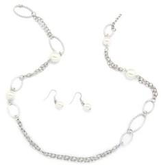5th Avenue White Necklace P2620-3