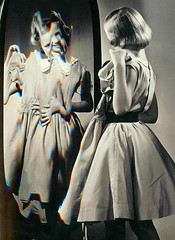 False Perceptions (KristineMarieVann) Tags: people blackandwhite bw abstract reflection cute art colors girl beauty smile fashion digital altered vintage hair happy person mirror design weird perception scans colorful alone dress body scanner edited fineart fine mirrors dressedup scan creepy teen teenager looks littlegirl ribbon disorder alteration bodyimage selfimage dressy edit vintagephoto eatingdisorder abstracted scanart attractiveness teenagegirl digitallyaltered selfconfidence vintagemagazine espon esponscanner falseperception