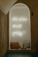 Do you ever pray? (beatriceleidi) Tags: film analog torino neon do pentax k1000 you kodak pray 400 pentaxk1000 ever portra analogic portra400 pentaxlife ilovepentax
