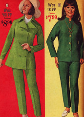BellasHess 69 ss 2 pantsuits (jsbuttons) Tags: 1969 clothing mod 60s buttons womens catalog 69 sixties vintagefashion bellashess