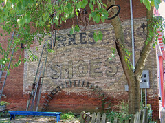 OH Marietta - Shoes Ghost Sign (scottamus) Tags: old ohio building brick sign vintage painting shoes ghost ad advertisement faded marietta product washingtoncounty