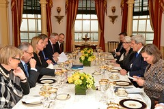 Secretary Kerry Hosts a Working Lunch With EU High Representative Mogherini (U.S. Department of State) Tags: eu johnkerry europeanunion federicamogherini