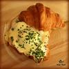 Smoked Salmon Croissant Benedict.  Photo:  Stan Mark