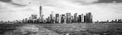 New York skyline (Ten2Ten - enforced timeout - elbow buggered) Tags: new york bw panorama ferry pano worldtradecenter wtc 8512 85l canonef8512liiusm lightroom5 photoshopcc