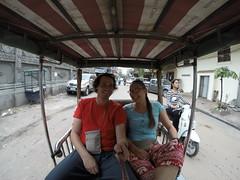Photo de 14h - Dans un tuk-tuk à Phnom Penh (Cambodge) - 13.12.2014