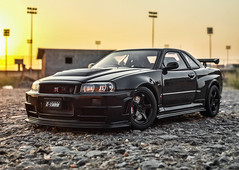 Nismo Nissan GTR R34 Z-tune (TAF27) Tags: black skyline nissan limited gtr scalemodel r34 autoart ztune scale118