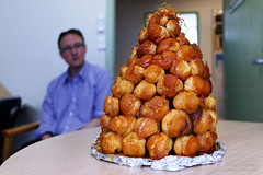 20141202-01-Tanya's croquembouche (Roger T Wong) Tags: christmas food office australia tasmania hobart croquembouche 2014 sonyalpha7 sonya7 carlzeiss35mmf28 rogertwong sonyilce7