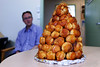 20141202-01-Tanya's croquembouche (Roger T Wong) Tags: christmas food office australia tasmania hobart croquembouche 2014 sonyalpha7 sonya7 carlzeiss35mmf28 rogertwong sonyilce7