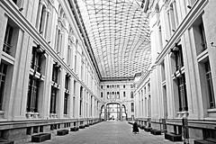 Palacio de Cibeles, Madrid (guillermoverdu) Tags: madrid bw espaa blanco spain flickr interior capital negro ciudad una cibeles correos palacio fuga guillermoverdu