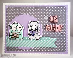 Monster-themed Valentine's Day Card featuring Simon Says Stamp (ucaree's crafts) Tags: handmadecard valentinescard simonsaysstamp