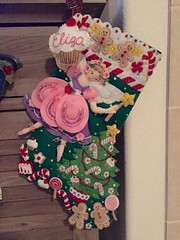 FINALLY!!! Eliza's stocking is finished in time for her third Christmas.... Phew!! (emskyrooney) Tags: christmas for is december time her finished third stocking 19 phew finally elizas 2014 0213am