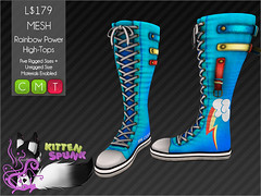 +KS+ Rainbow Power High-Tops (Ecathi) Tags: kitten mesh little sl pony secondlife mlp rigged spunk