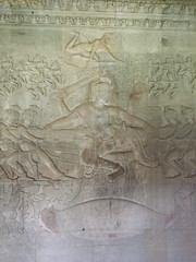 Churning of the Ocean of Milk (oledoe) Tags: temple angkorwat relief angkor basrelief churningoftheseaofmilk churningoftheoceanofmilk samudramanthan អង្គរវត្ត អង្គរ wikipedia:en=samudramanthan set:name=201411preahvihearsiemreap 0tagged