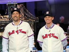 New Hall of Famers visit Letterman (apardavila) Tags: sports baseball mlb lateshowwithdavidletterman edsullivantheater majorleaguebaseball johnsmoltz craigbiggio nationalbaseballhalloffame