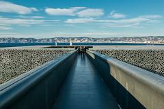 On the ocean (Andrs Caldera) Tags: france building museum architecture concrete marseille muse entrace mucem