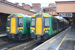 London Midland Turbostar 172342 & 172340 (Will Swain) Tags: street city west london train birmingham centre january rail trains class 14th moor railways midland 172 midlands turbostar 2015 172340 172342