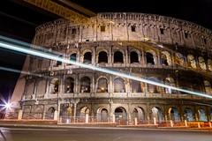The Gladiators Bus (Stahlinho) Tags: italien italy rome roma bus night dark nacht colosseum rom 6d langzeitbelichtung kolosseum