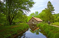 spring at grist mill (JulyRiver) Tags: mill gristmill grist waysideinn sudburyma