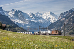 BLS Cargo: Re 425 171 (Pascal Hartmann Photography) Tags: train switzerland spring cargo bls freight frhling swissalps 171 swissmountains autozug 425 ltschberg frutigen ltschbergbahn blscargo re425