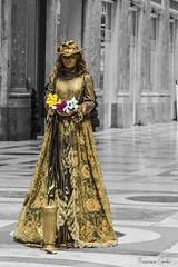Masquerade (atrialbyfire) Tags: blackandwhite italy woman donna italia mask corte napoli naples masquerade curt biancoenero maschera ballo italiano mistery mistero galleriaumberto misteriosa cortigiana
