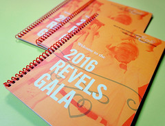 Program Books for the Revels Gala (Cahoots Design) Tags: cambridge music chorus design song salute arts celebration identity event invitation farewell orchestra welcome invite organization gala branding composer wgbh nonprofit cahoots revels cahootsdesign georgeemlen printprintdesign