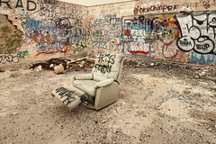Recliner (Curtis Gregory Perry) Tags: california abandoned station graffiti nikon paint mark 66 spray gas route prom bernie recliner sylvia sanders summers wup cadizsummit d800e feelthebern okiichinpo