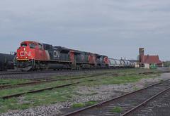 Almost GEVO Free.. (Joseph Bishop) Tags: railroad ontario cn train track tracks rail railway trains rails railfan brantford emd 8899 sd70m2 cndundassubdivision