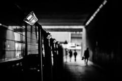 Under The Bridge (Sean Batten) Tags: street city england people urban blackandwhite bw london lights nikon unitedkingdom streetphotography tunnel gb 70200 vauxhall nineelms d800