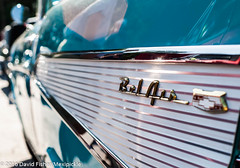 1957 Chevy Bel Air (MexiPickle) Tags: blue belair logo ornament chevy 1957 tucker carshow cruisein