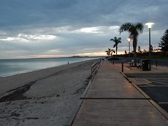 Whyalla Foreshore - Dusk (mikecogh) Tags: beach palms dusk path foreshore whyalla