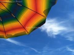 Estate... (Cane Billi ) Tags: vadoligure ombrellone azzurro cielo nikon d300 tamron colori mare spiaggia liguria relax